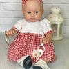 Кукла Alisia в клетчатом красном платье