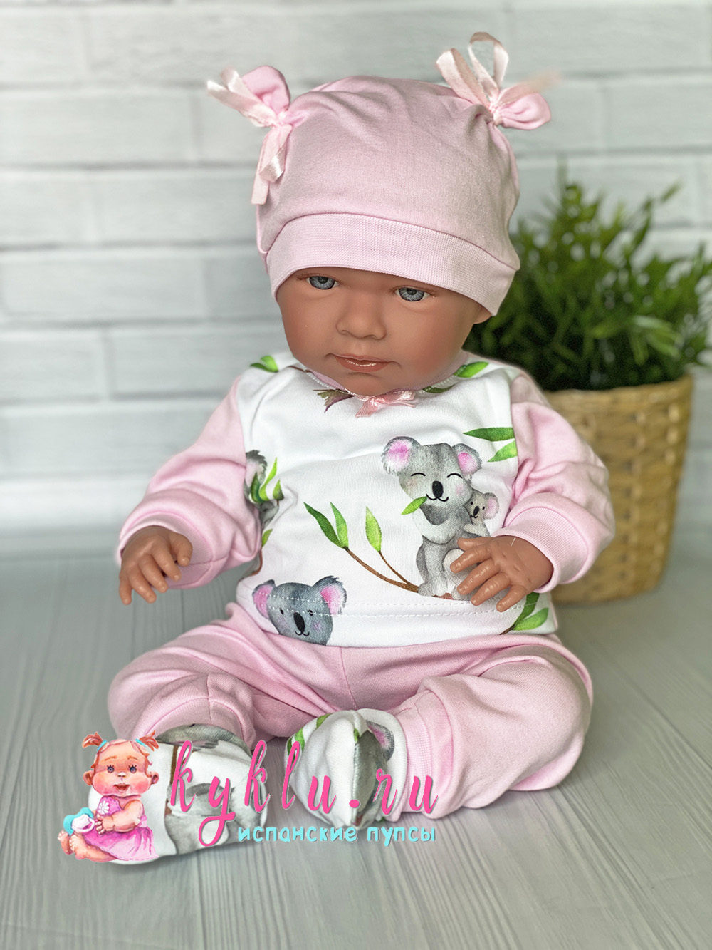 "Костюм розовый ""Коалы"" для куклы"
