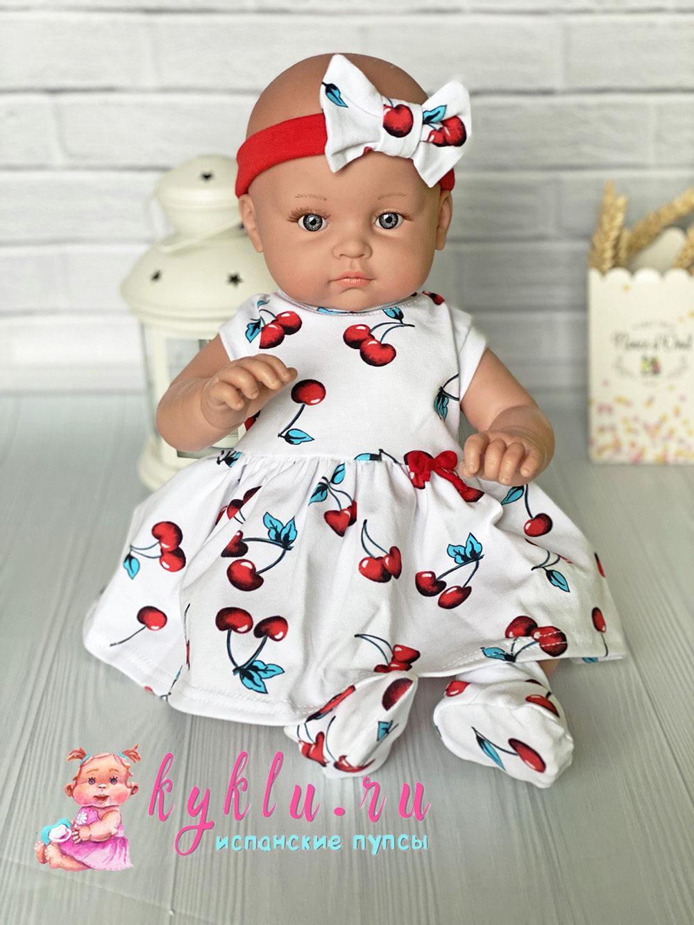 Платье для куклы ростом 40-45 см