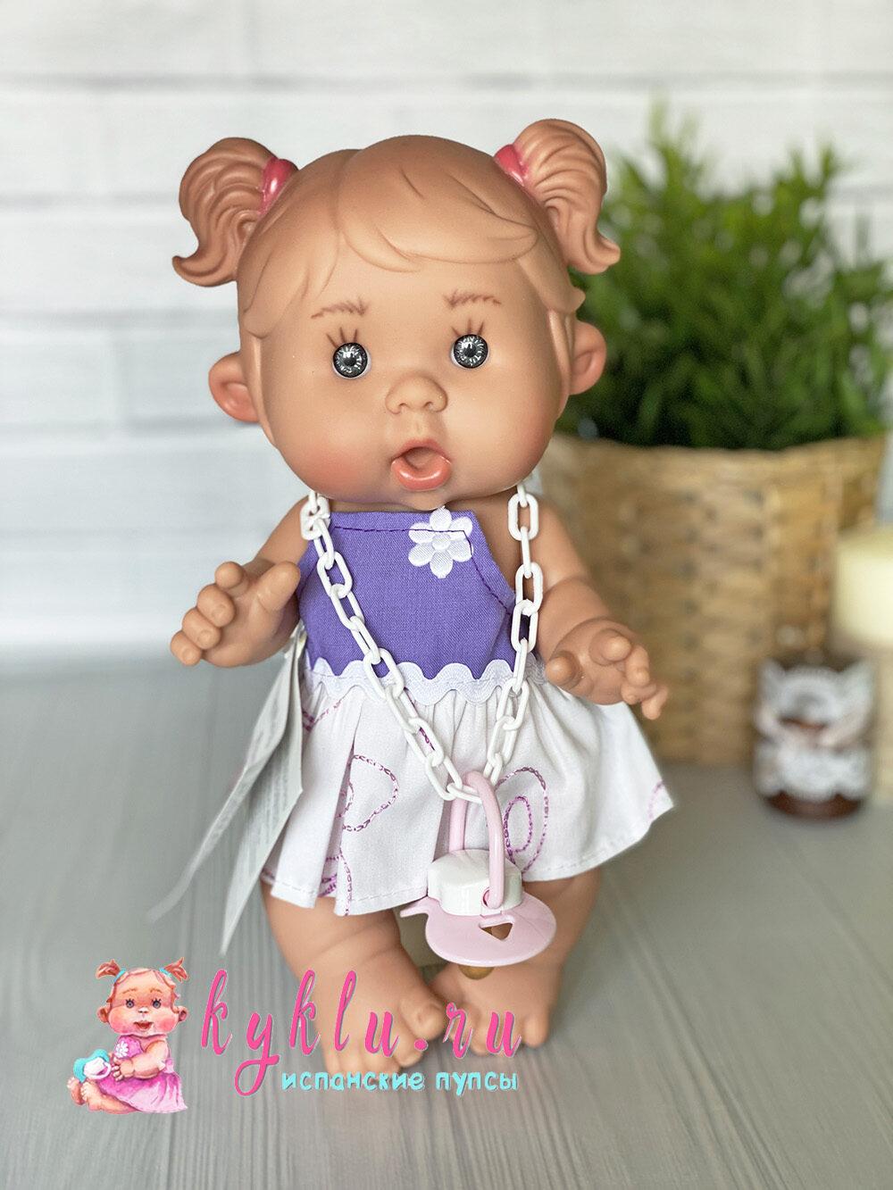 Пупс девочка с пушистыми хвостиками