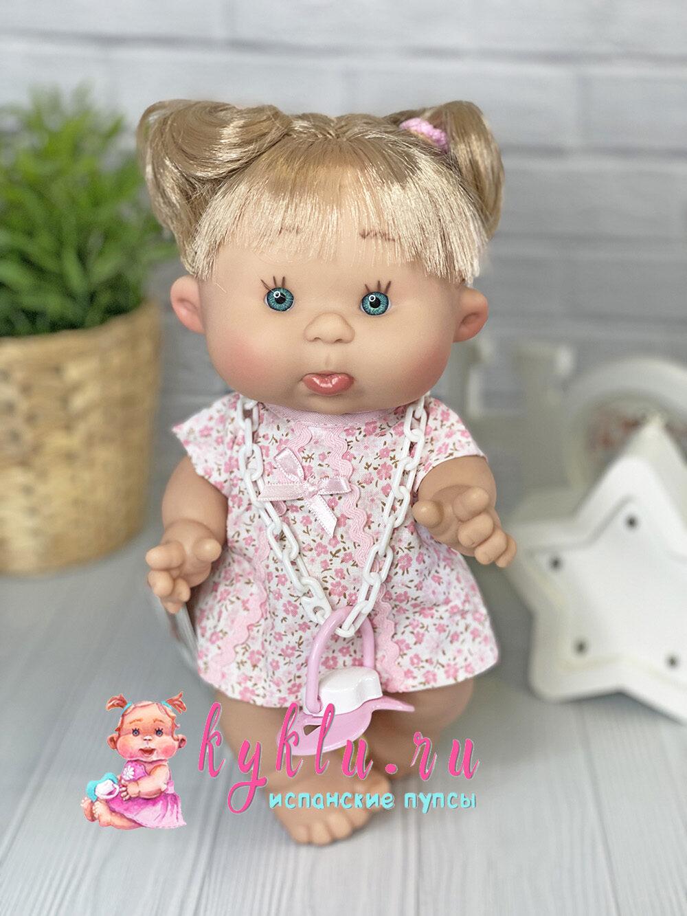 Ванильный пупс девочка с волосами