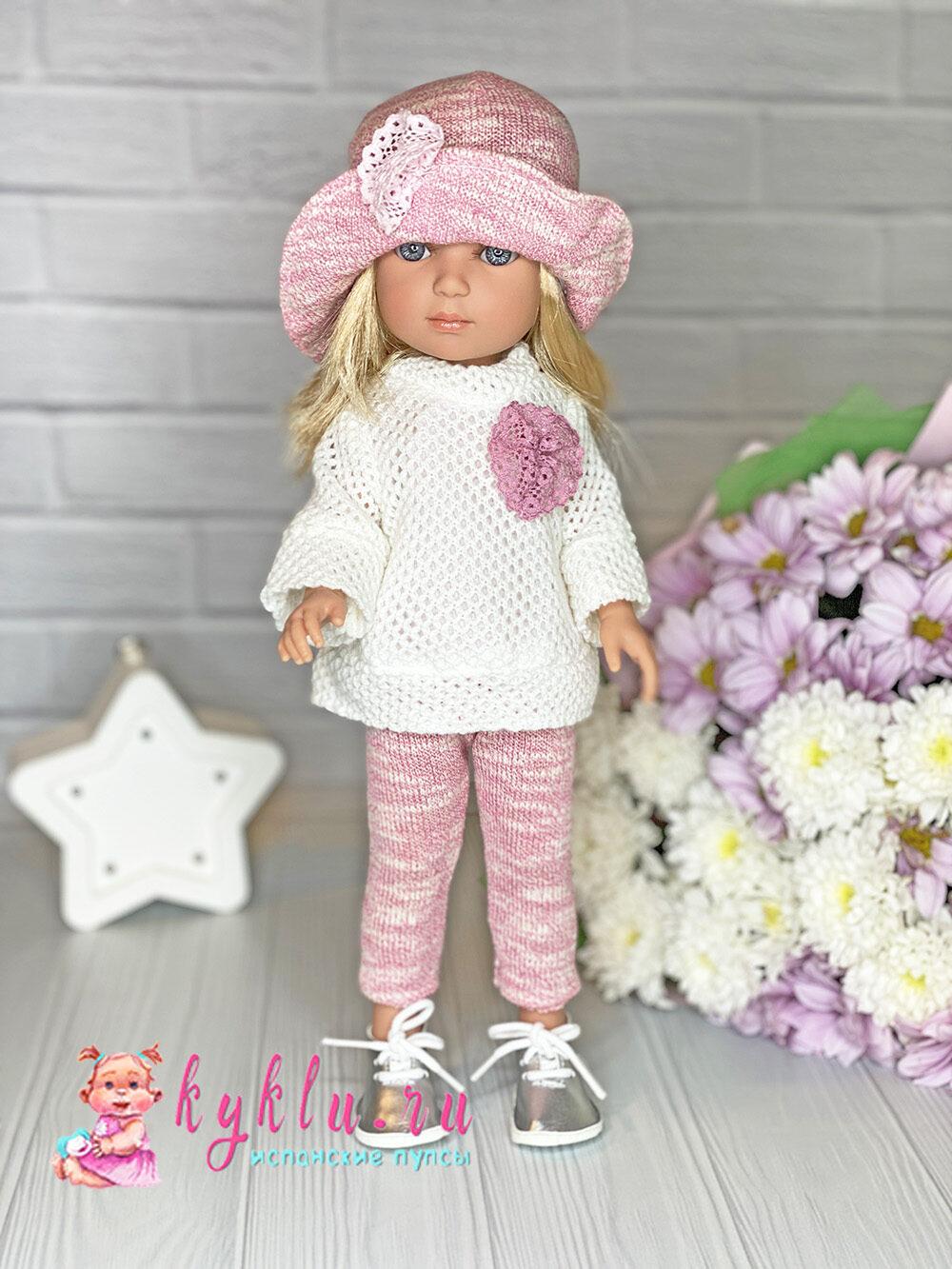 Кукла Carlota в розовой шляпке