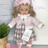 Кукла в розовом берете от Marina&Pau