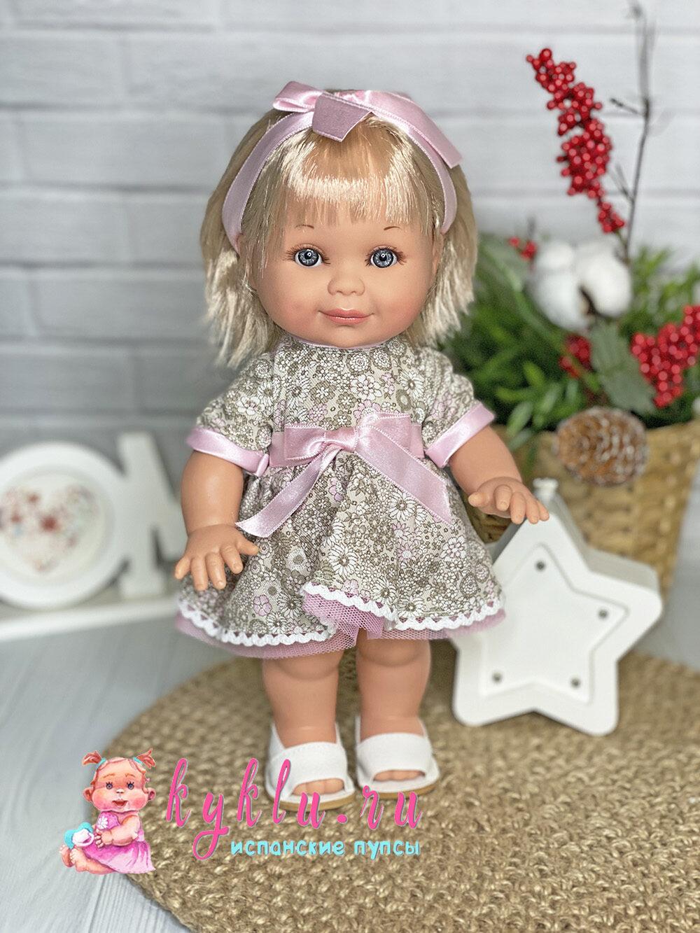 Кукла Бетти в бежевом платье от Lamagik