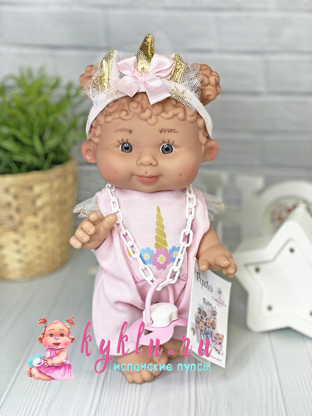 Ванильный пупс девочка с кудряшками