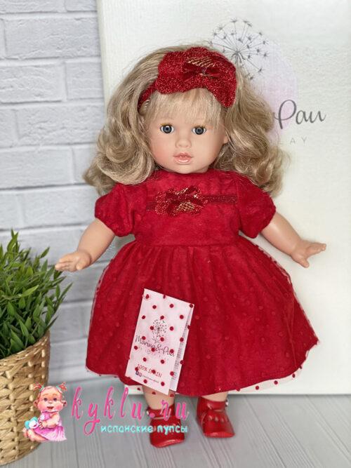 Кукла в красном платье от Marina&Pau