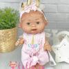 Ванильный пупс девочка с веснушками
