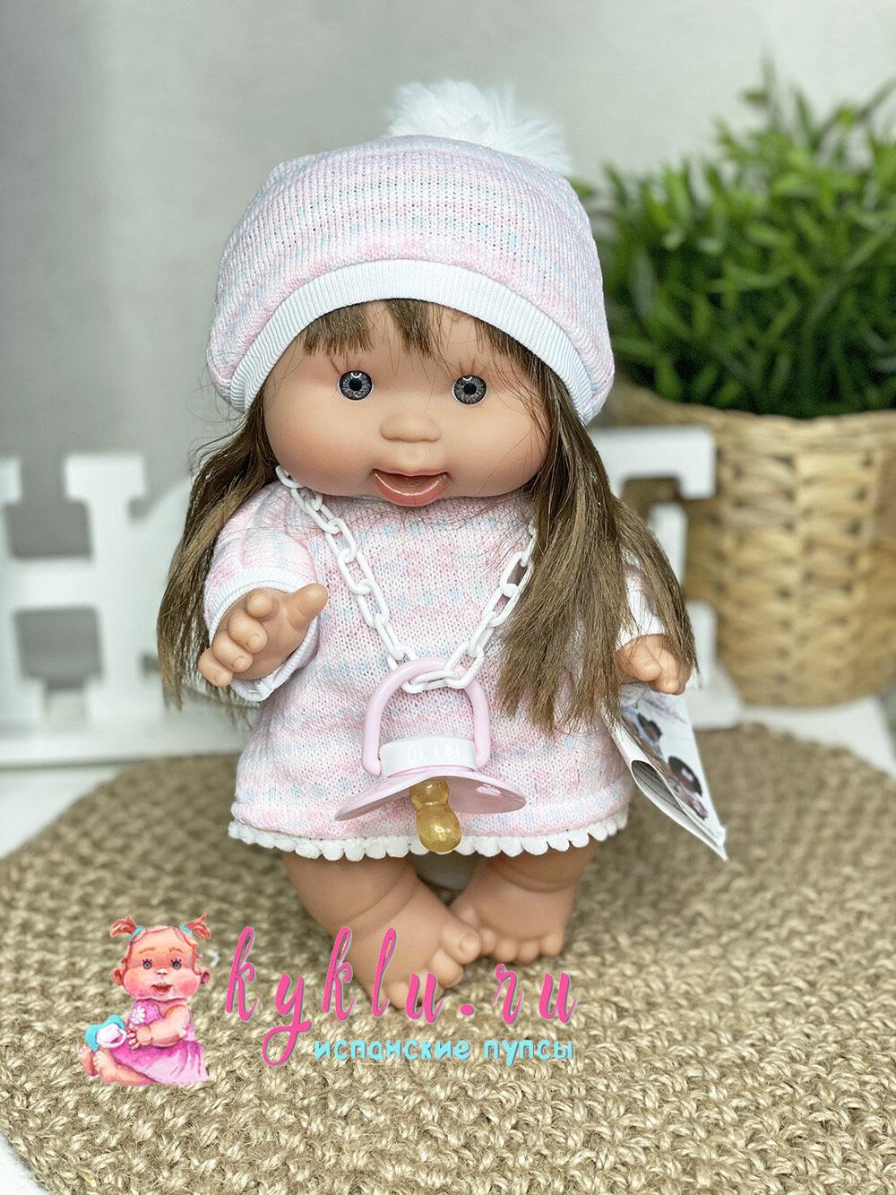 Ванильный пупс девочка с волосами 26 см