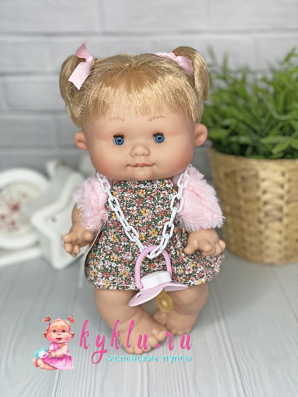 Ванильный пупс девочка блондинка с закрывающимися глазками