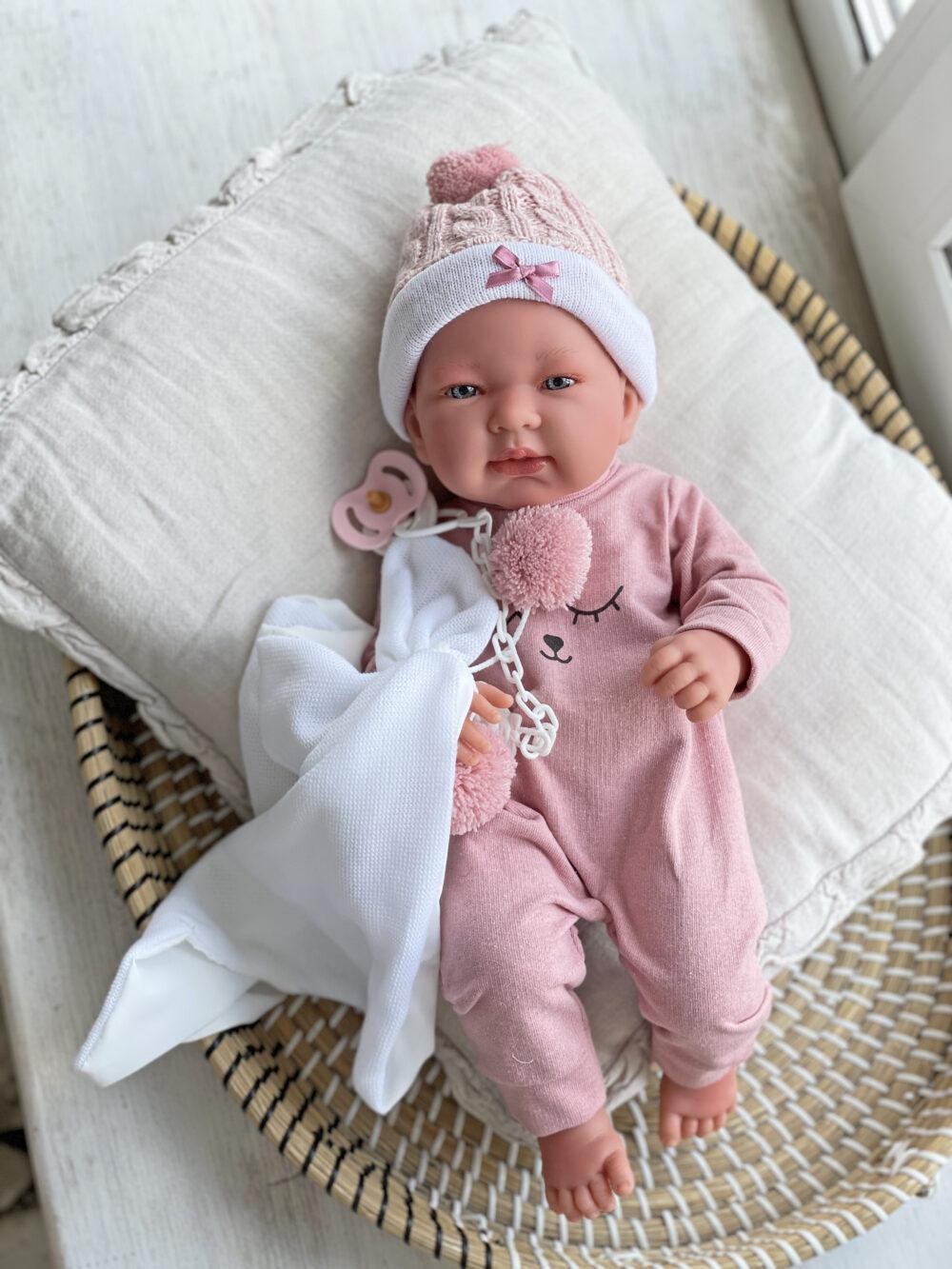 Кукла Тина в розовом комбинезоне