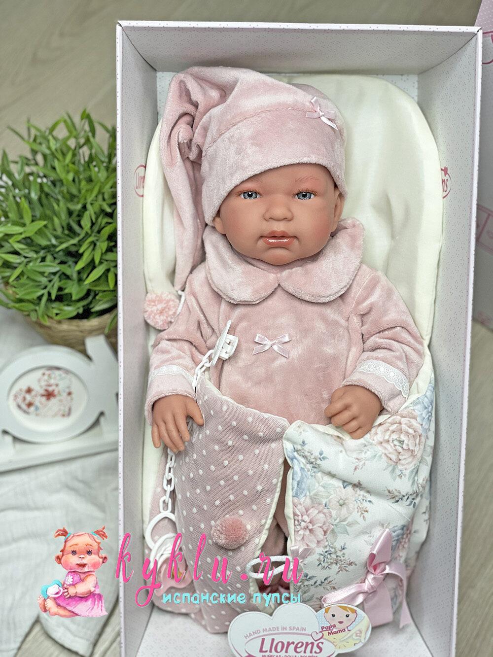Кукла Тина в розовом костюме