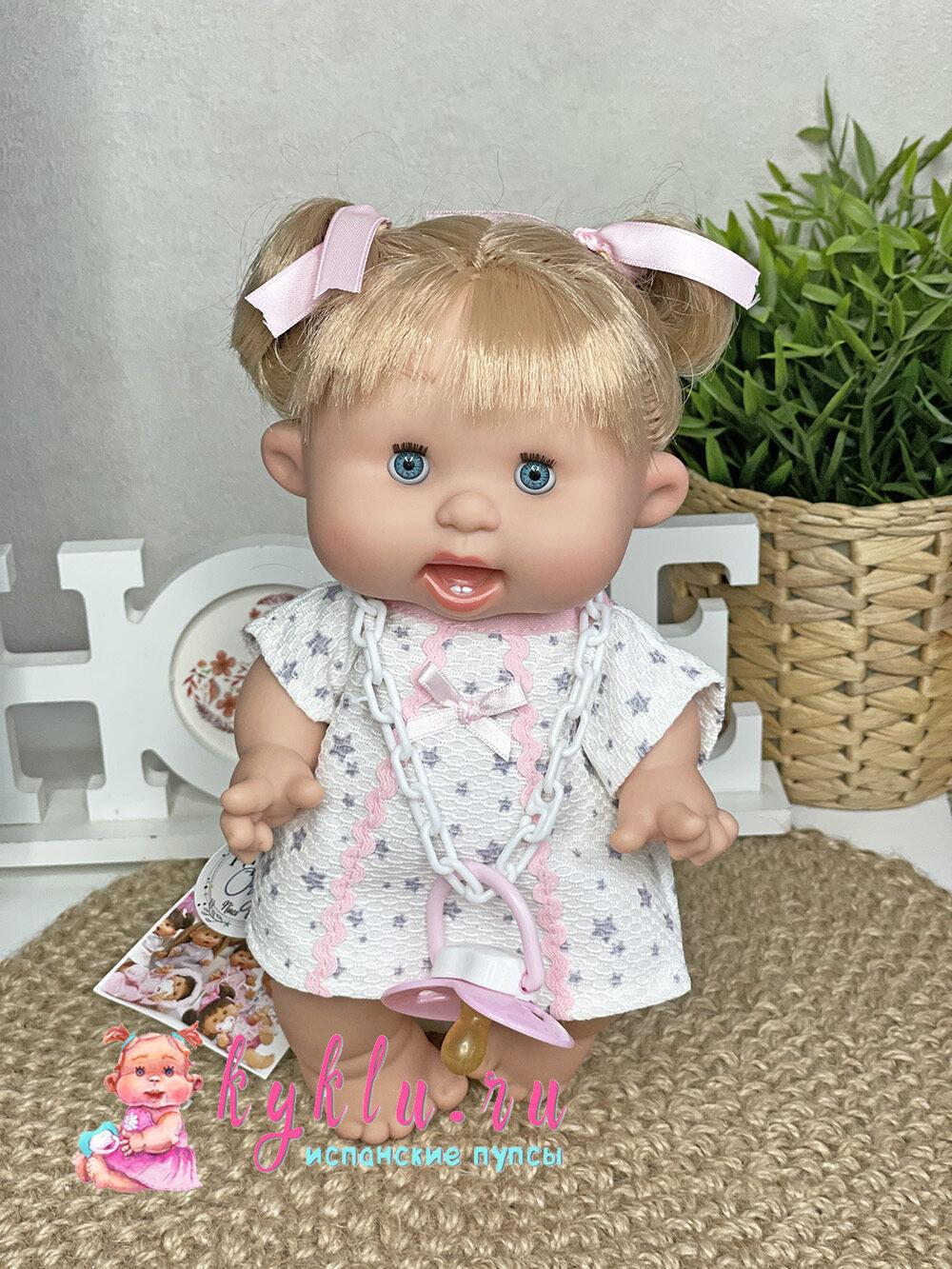 Ванильный пупс девочка блондинка 26 см