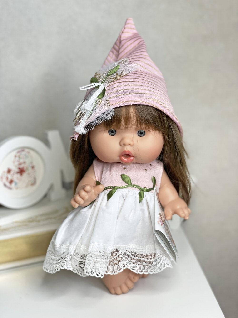 Ванильный пупс 26 см девочка брюнетка