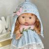 Ванильный пупс девочка с рыжими волосами 26 см